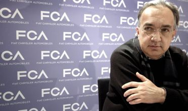 03 Mar 2015, Geneva, Switzerland --- Geneva helds the only annual Motor Show of Europe. In these Pictures the Fiat Chrysler Automobiles stand and executives Pictured: Sergio Marchionne CEO of Fiat Chrysler Automobiles and President of Ferrari --- Image by © Fotografi Associati/Splash News/Corbis