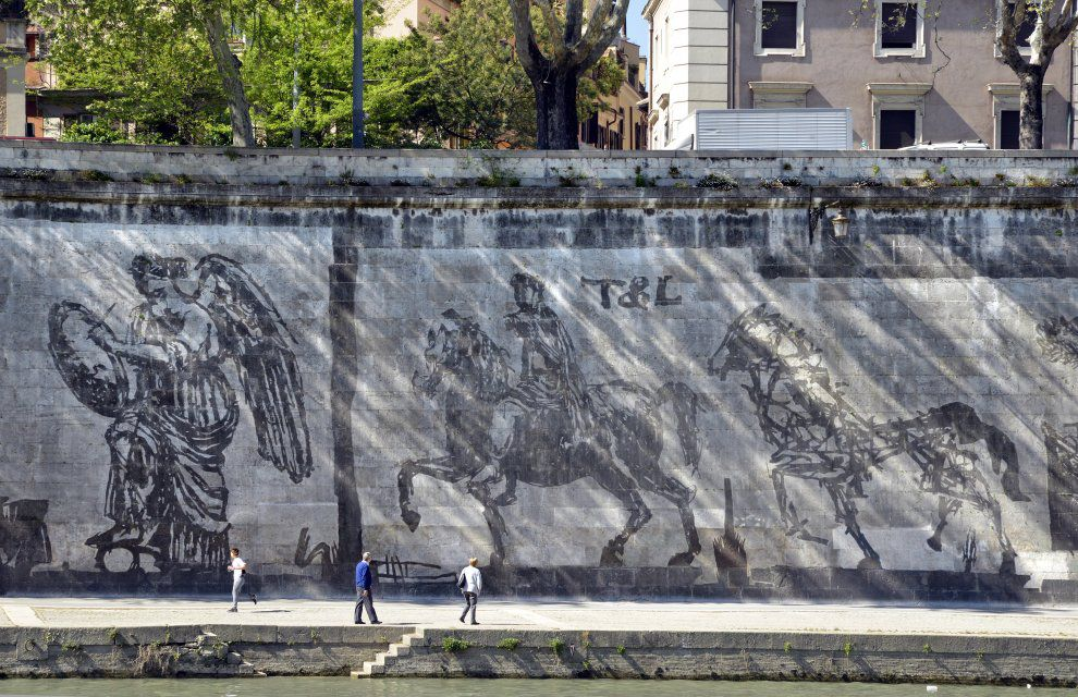 Murales Kentridge Credit: Roma.Repubblica.it