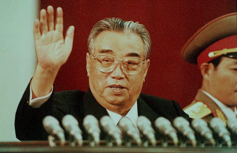 Il presidente nordcoreano Kim Il-Sung a P'yongyang. in un'immagine dell'aprile 1992, due anni prima della sua morte (Foto: JIJI PRESS/AFP/Getty Images)