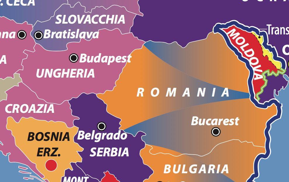 Dettaglio Ungheria Romania