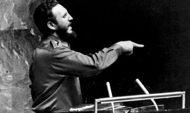 Fidel Castro per la prima volta all'Assemblea generale delle Nazioni Unite, settembre 1960 (Foto: OAH/AFP/Getty Images).