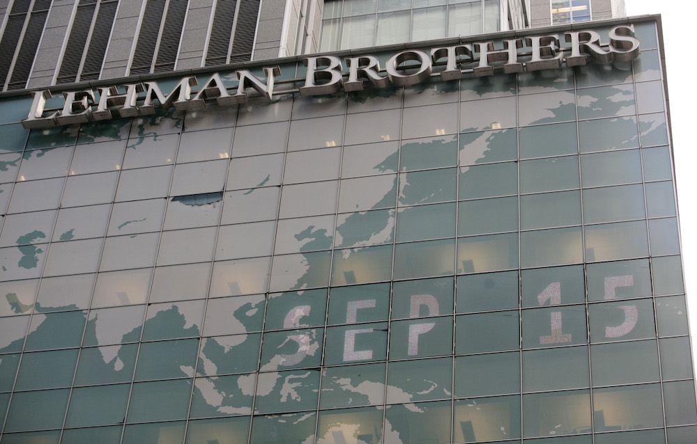 Facciata della sede di New York della società d'investimento Lehman Brothers (Foto: NICHOLAS ROBERTS/AFP/Getty Images).