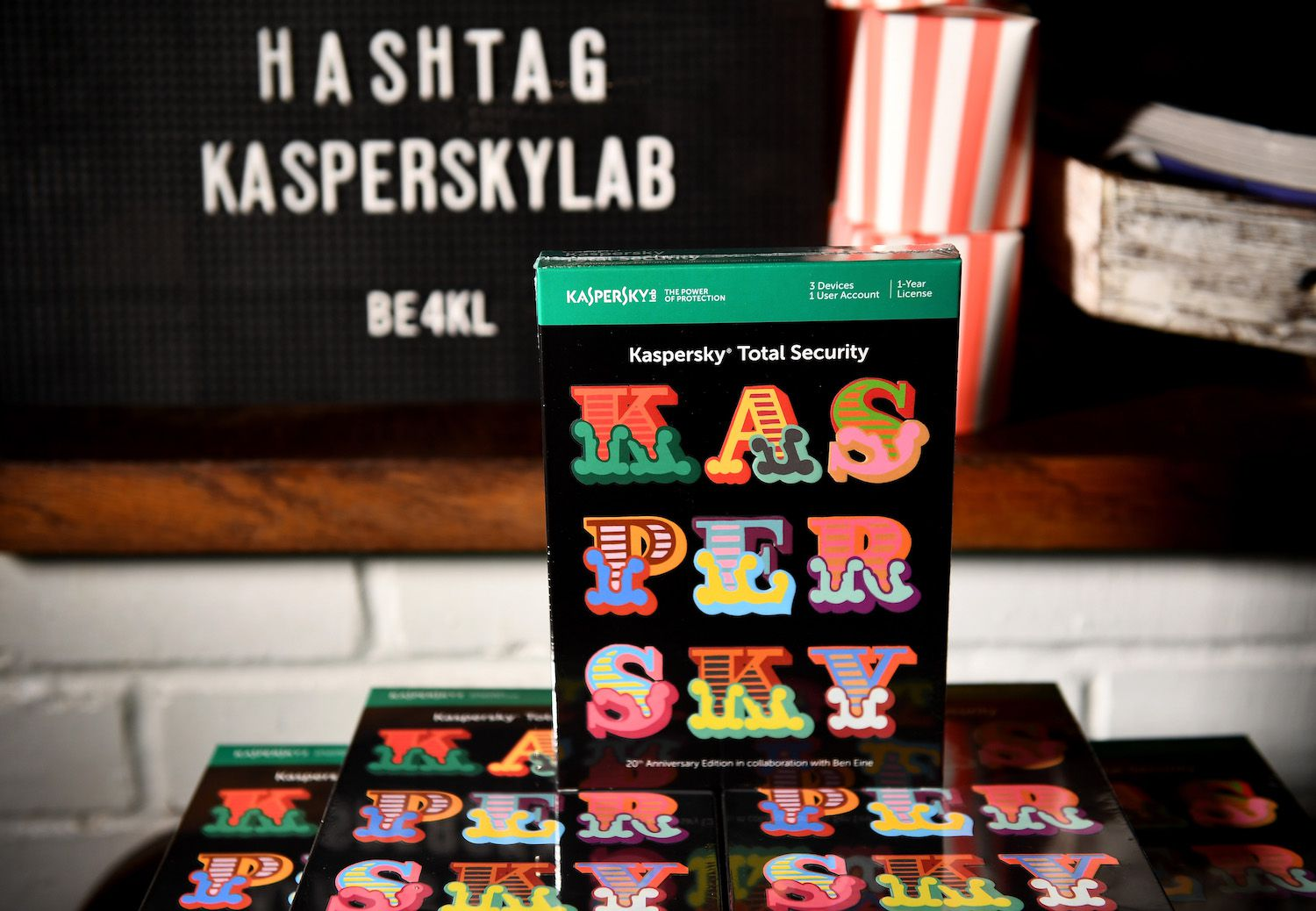 """LONDON, ENGLAND - OCTOBER 04:  A general view ahead of the launch of the ad campaign film """"Back To Work"""", sealing the artistic collaboration between Kaspersky Lab and Ben Eine, on the cybersecurity company's 20th anniversary celebration year at the Electric Cinema on October 4, 2017 in London, England. #Kaspersky20 #KL20 #BE4KL  (Photo by Ian Gavan/Getty Images)"""