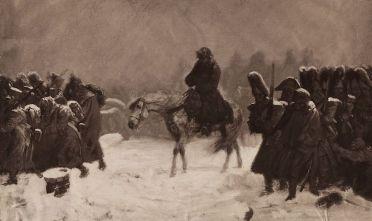 La Grande Armée si ritira da Mosca (Foto da: Hulton Archive/Getty Images)Grande Armée