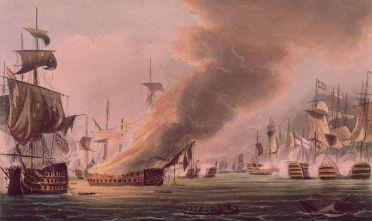 La battaglia di Trafalgar, 21 ottobre 1805, dall'archivio navale britannico (Immagine: Hulton Archive/Getty Images).