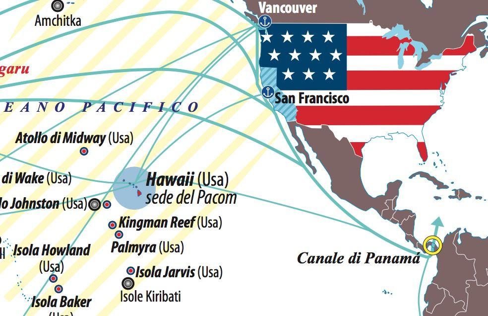 Dettaglio Pacifico degli Usa