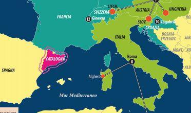 Dettaglio delegazioni Catalogna