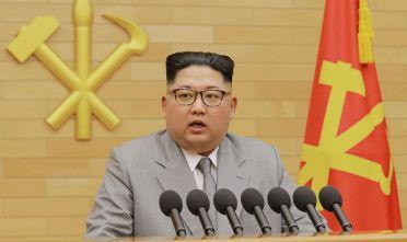 Kim Jong-un durante il discorso inaugurale alla nazione del 1° gennaio 2018 (Foto: /AFP/Getty Images).