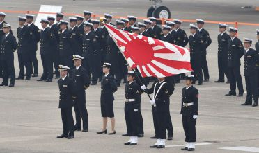 Parata della Marina giapponese, ottobre 2014 (Foto: KAZUHIRO NOGI/AFP/Getty Images).