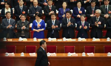 BEIJING, CHINA - MARCH 03:  Chinese President Xi Jinping attend the opening of the first session of the 13th Chinese People's Political Consultative Conference (CPPCC) at The Great Hall of People on March 3, 2018 in Beijing, China. The Chinese People's Political Consultative Conference opens on March 3 in Beijing.  (Photo by Lintao Zhang/Getty Images)