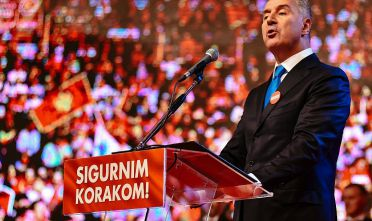 Montenegrin Prime Minister Milo Djukanovic speaks during an election rally in Podgorica on October 14, 2016. NATO membership will be a central issue in Montenegro's general election on October 16, 2016, with the vote marking the latest episode in a power struggle between Russia and the West in the Balkans. / AFP / SAVO PRELEVIC        (Photo credit should read SAVO PRELEVIC/AFP/Getty Images)