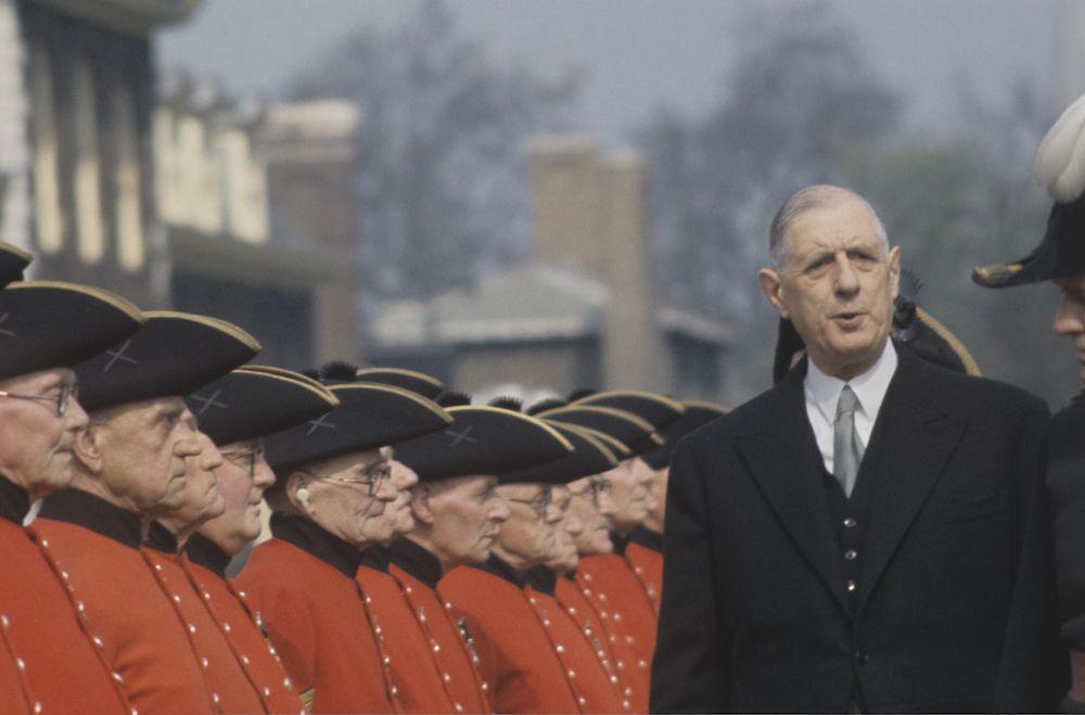 Il presidente francese Charles de Gaulle negli anni Sessanta (Foto: Keystone Colour/Getty Images).