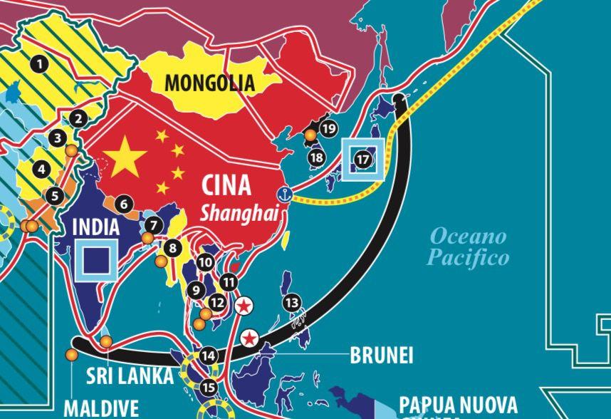 Dettaglio impero americano e sfida cinese