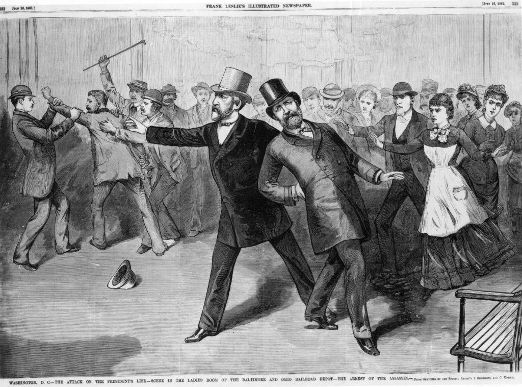 L'assassinio del presidente Garfield (Hulton Archive/Getty Images)