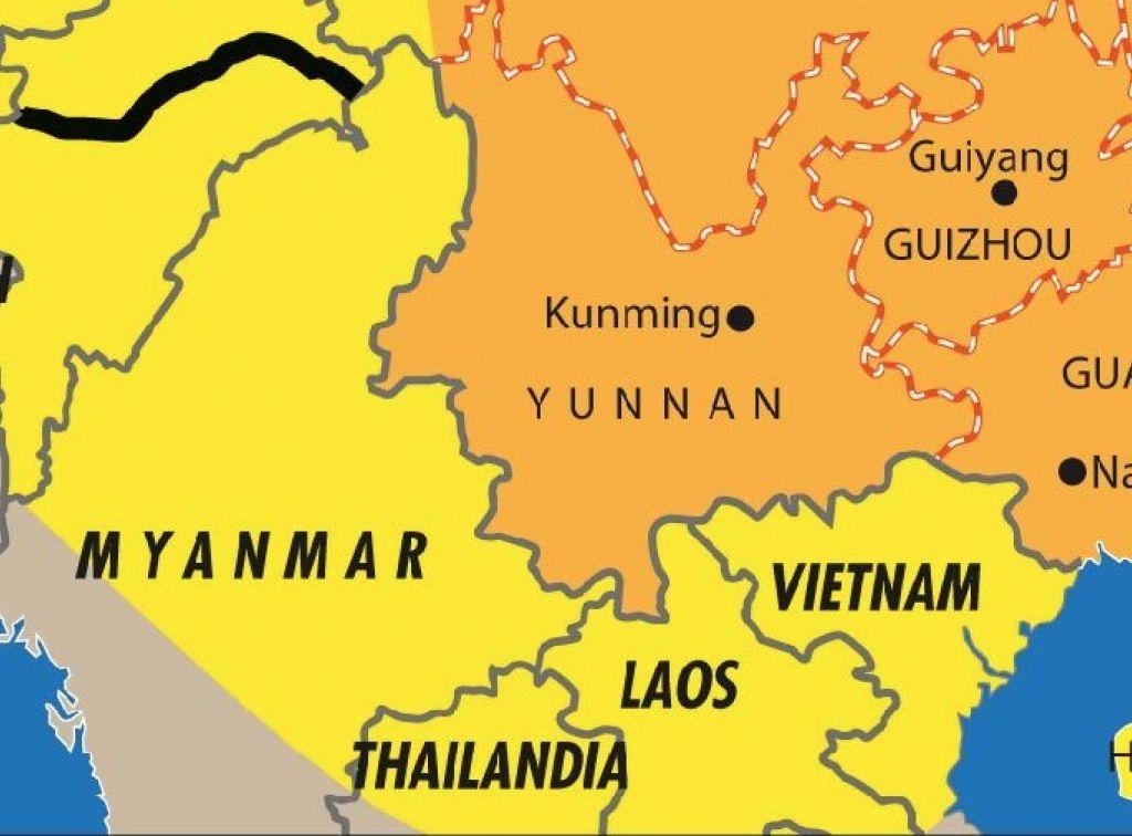 Tra Vietnam E Thailandia Cartina Geografica.Yunnan Ponte E Frontiera Della Cina Verso Il Sud Est Asiatico Limes