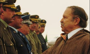 ALGERIA - MARCH 02:  Algerian President Abdelaziz Bouteflika Visits The Wilaya Of El Oued, One Month Prior To The Presidential Election On March 2, 2004 In Biskra, Algeria.   (Photo by Jean-Luc LUYSSEN/Gamma-Rapho via Getty Images)