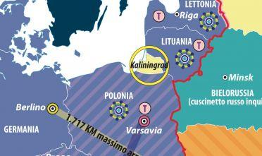 Dettaglio Kaliningrad Europa in mezzo