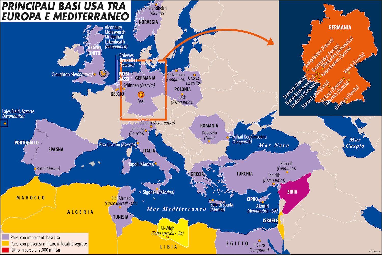 Principali basi tra Europa e Mediterraneo copia copia