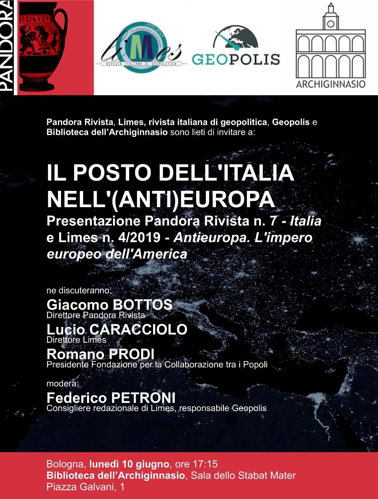 Conferenza Prodi Caracciolo Bologna