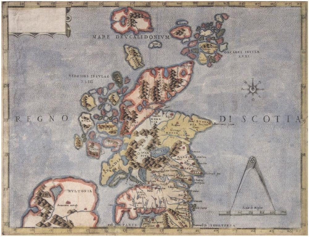 Fonte: P. Forlani, Scotia, Venezia 1565 ca.
