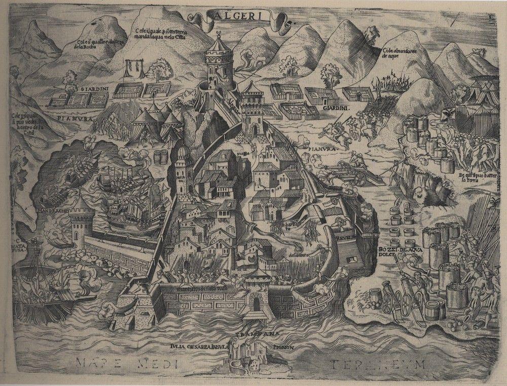 Fonte: A. Lafreri, Algeri, Roma 1555 ca.