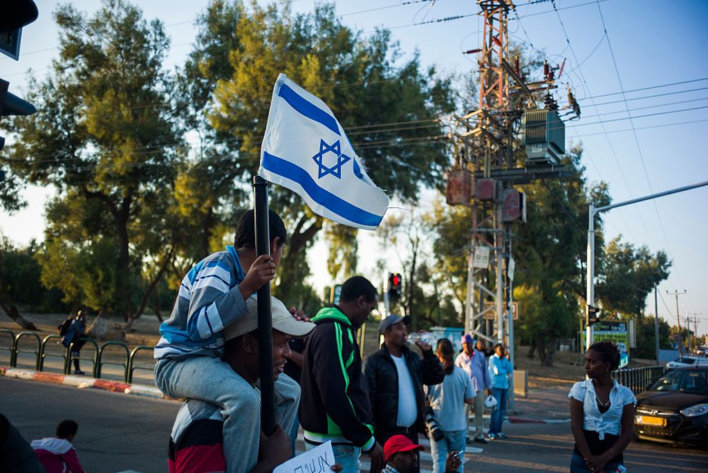 Proteste del 4 maggio 2019 a Kiryat Gat (Photo by Ilia Yefimovich/Getty Images)