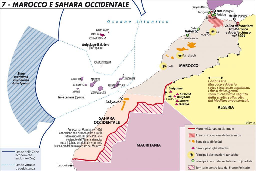 Spagna E Isole Canarie Cartina Geografica.La Fortezza Europa Comincia A Ceuta E Melilla Limes