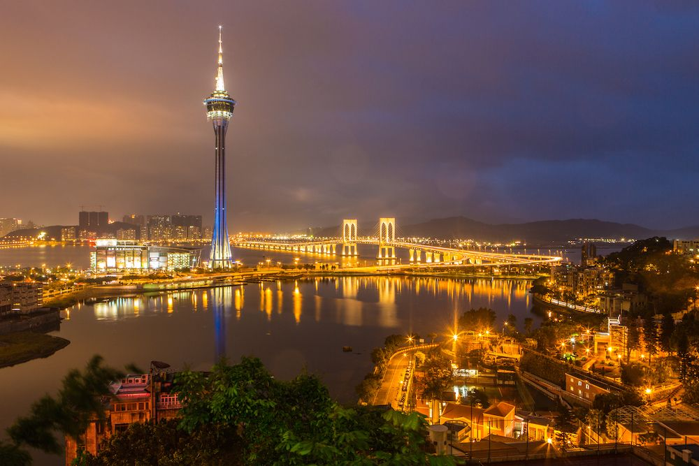 Vista della Macau Tower, 2014. (Foto di: Callaghan Walsh/Getty Images).