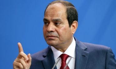 Egyptian President Abdel Fattah el-Sisi speaks during a news conference with German Chancellor Angela Merkel on June 3, 2015 in Berlin, Germany. The meeting between the two leaders was intended to increase economic and security cooperation between the two countries, who shared 4.4 billion euros ($4.8 billion) in bilateral trade in 2014. The two disagreed over human rights issues such as capital punishment.  *** Local Caption *** Abdel Fattah el-Sisi