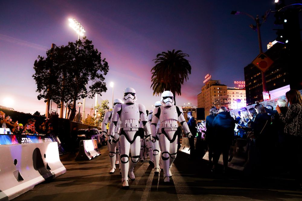 Truppe imperiali alla prima di Star Wars, episodio IX (Photo by Rich Fury/Getty Images)