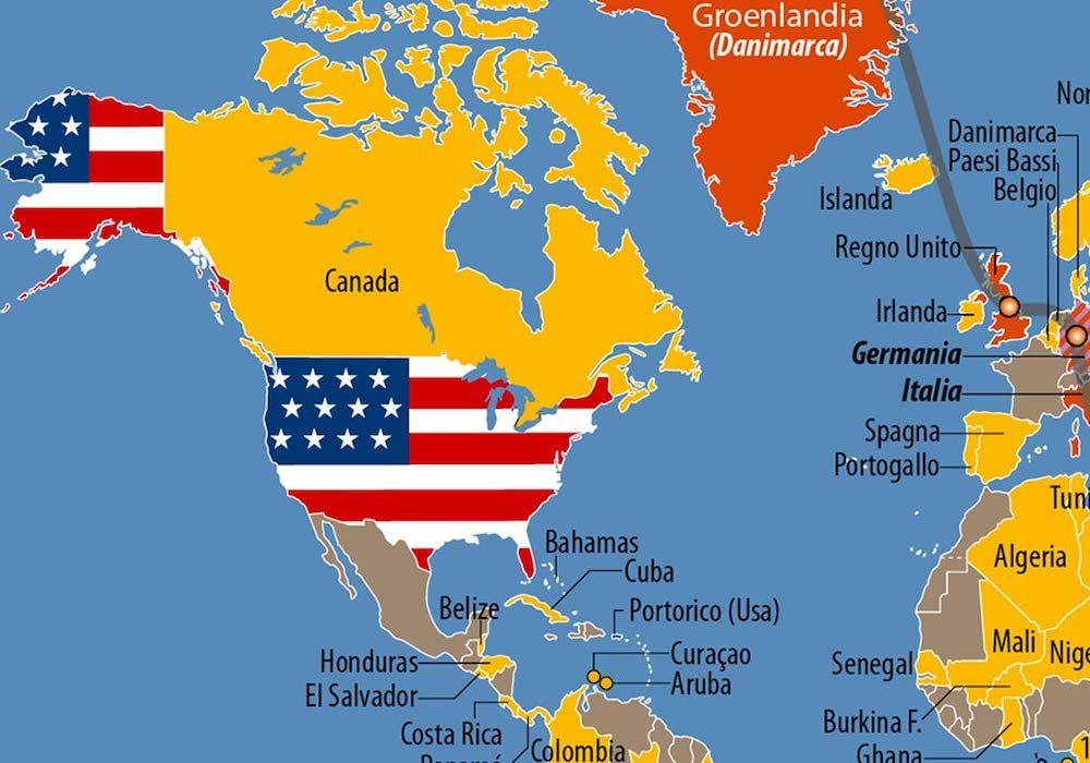 La Cartina Geografica Degli Stati Uniti.Carta Le Basi Militari Usa Nel Mondo Limes