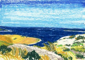 Un dipinto di Beppe Dell'Acqua in mostra a Nerezine - Losinj