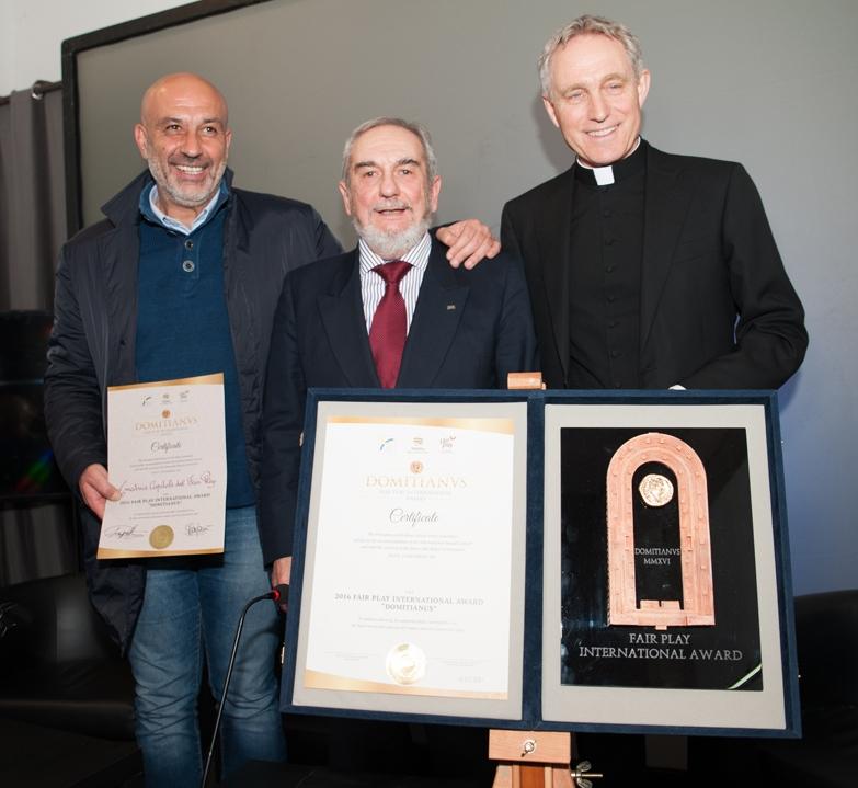 Sergio Pirozzi - Ruggero Alcanterini e Mons. Georg Ganswein