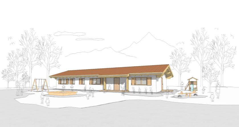 rendering asilo Pieve (Rubner Haus)