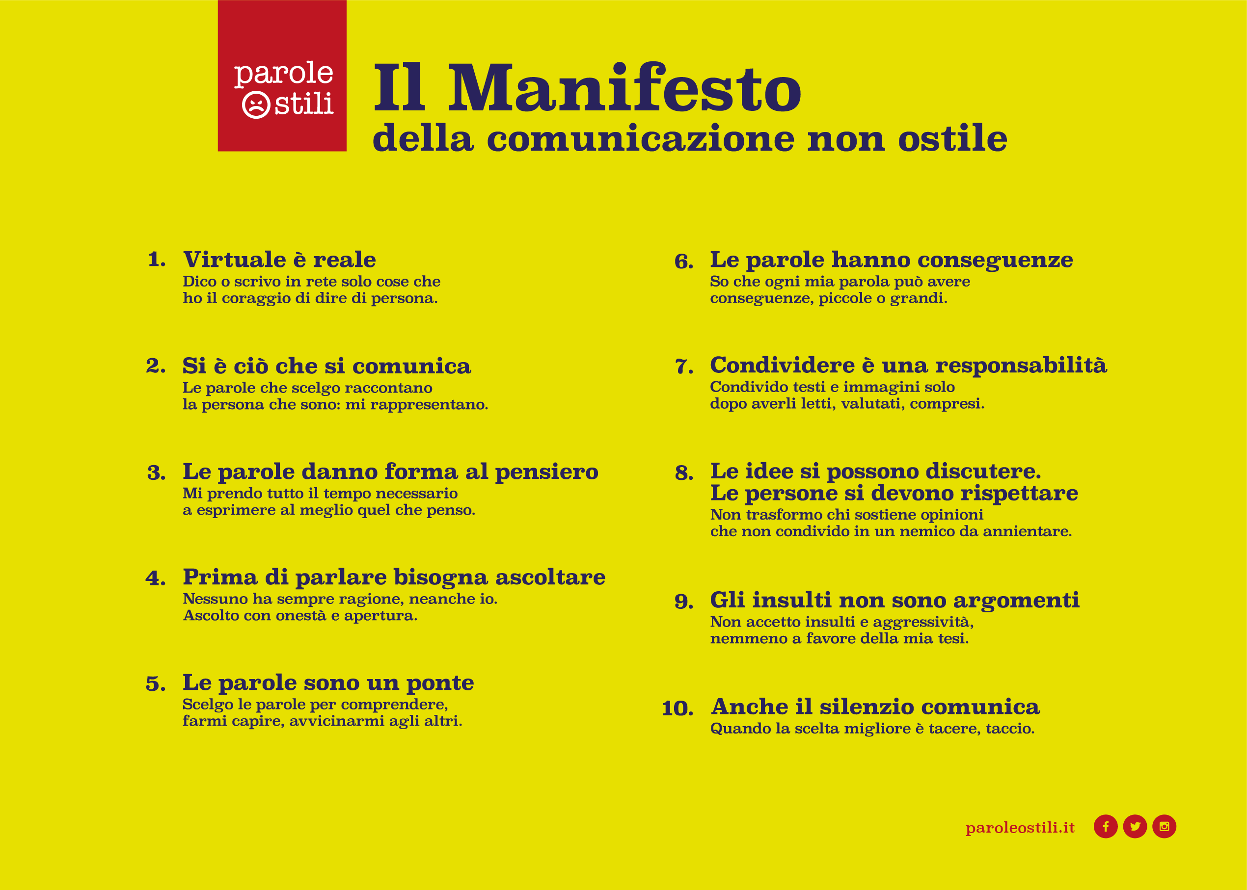 Manifesto Image: Osservatorio Cyberbullismo