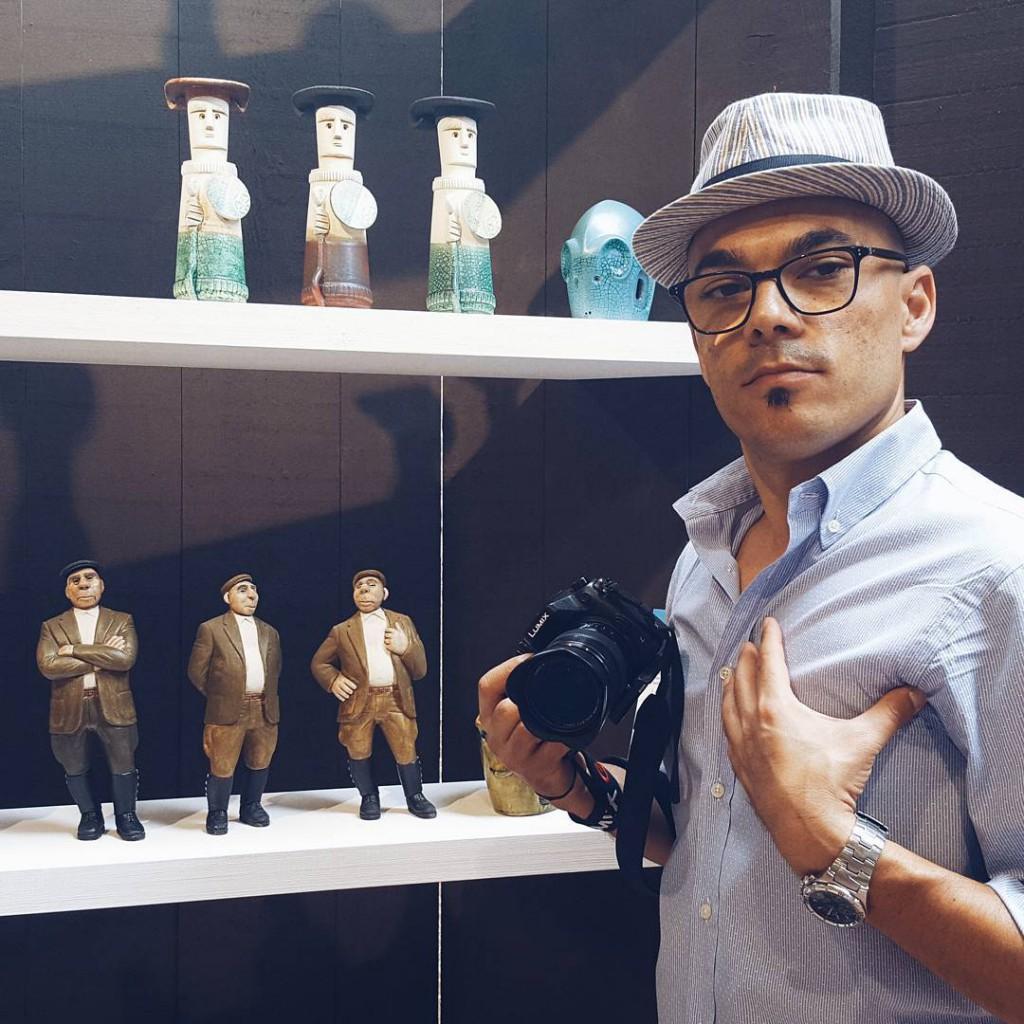 Massimo Loi alla fiera dell'artigianato di Mogoro