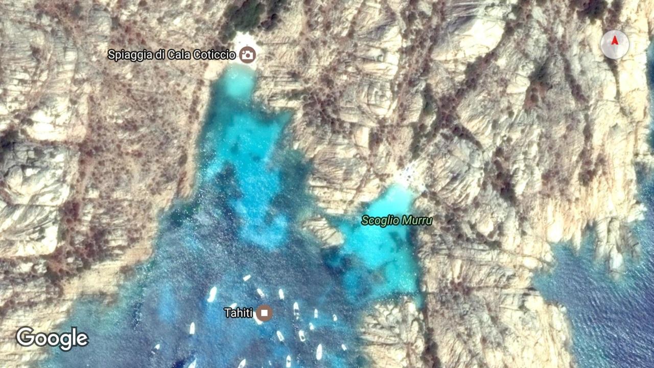 Lo scoglio Murru su Google Maps