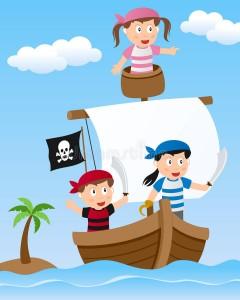 bambini-del-pirata-sulla-barca-vela-30428096