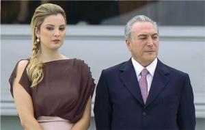 Il presidente del Brasile, Michel Temer e la moglie Marcela