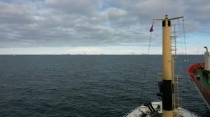 Le prue dell'OGS Explora e dell'Italica affiancate puntano verso il continente bianco.