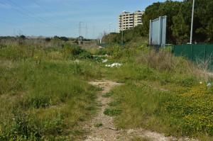 Bari - Pista di mountain bike abbandonata e con rifiuti in via M