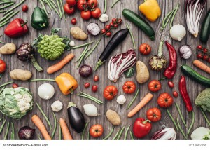 Vegetables colorful background