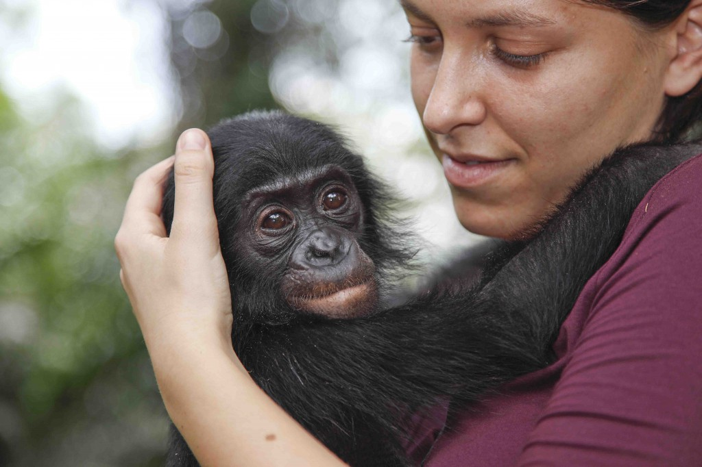 Alessandra Prampolini durante un viaggio nella Repubblica democratica del Congo