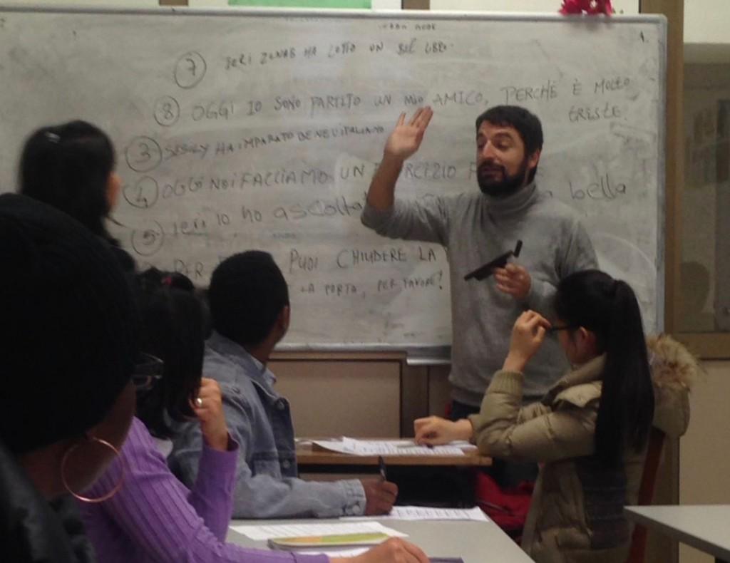 Francesco Scarcella mentre fa lezione