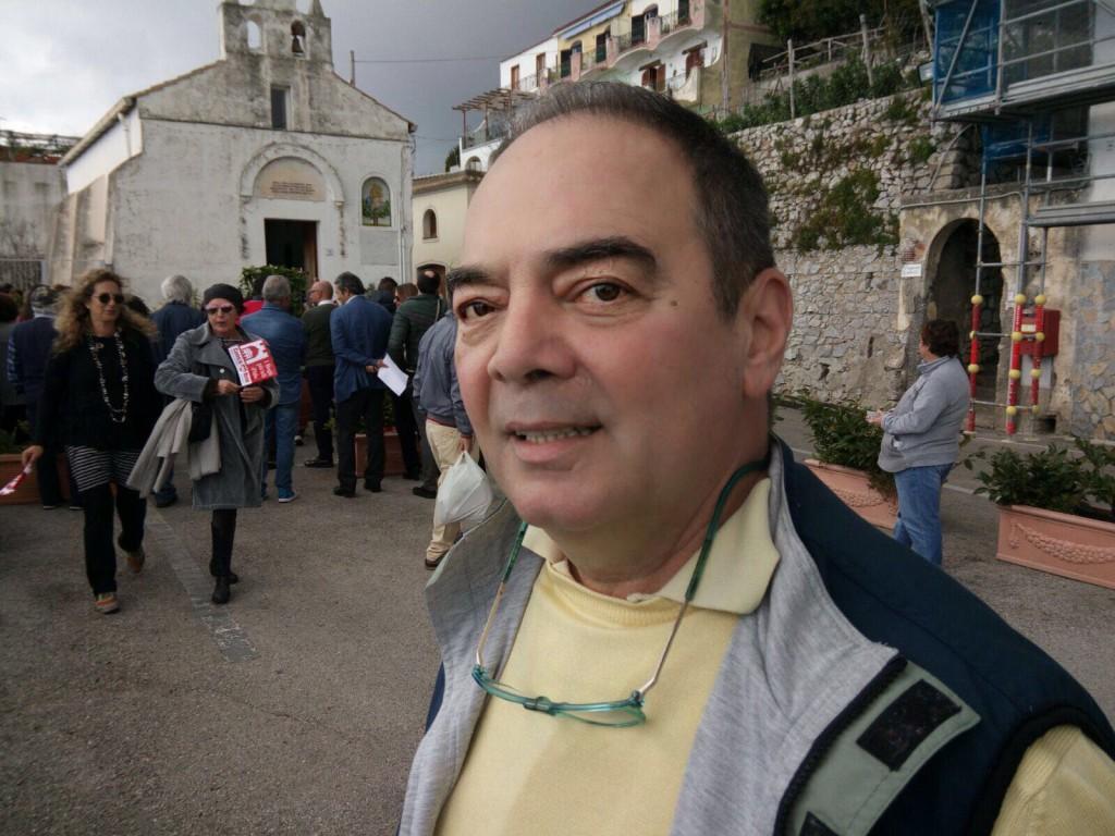 Maurizio Beolchini fotografato a Conca dei Marini
