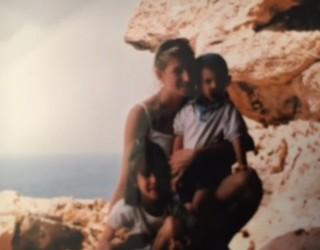 Paola con i suoi figli