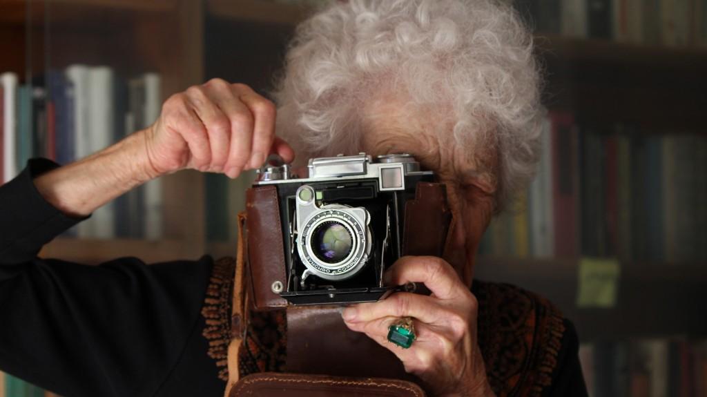 Cecilia Mangini, 90 anni a luglio, in una foto di Paolo Pisanelli