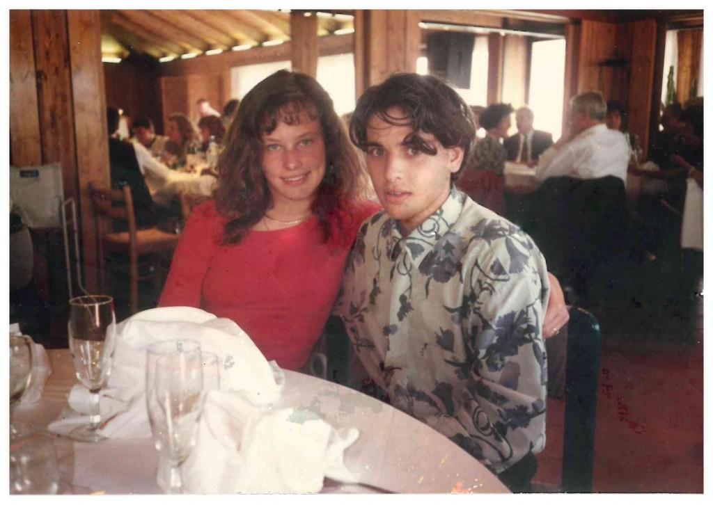 Michele e sua moglie in una foto di 25 anni fa