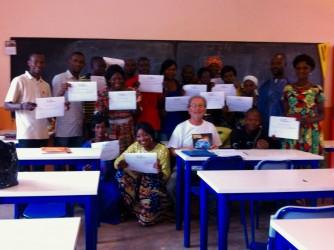 Franco con i partecipanti del corso di Bangui