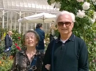 Elena Scardino Borri con il marito a Firenze